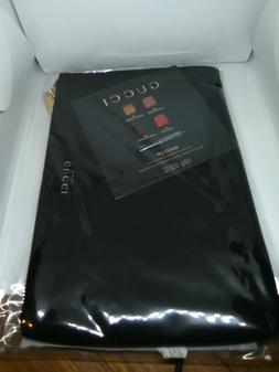 GUCCI BEAUTY BLACK BEAUTY MAKEUP POUCH COSMETIC TRAVEL CASE