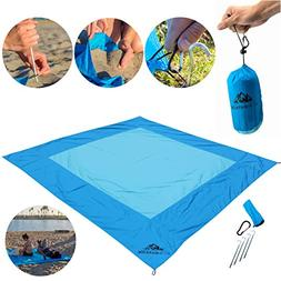 Big Blue Beach Blanket by AiO - Large King Size - Soft Parac