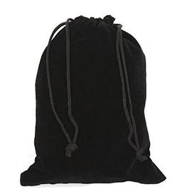 "ASTRQLE 6PCS Black 10x20cm /3.93""x 7.87"" Velvet Cloth Storag"