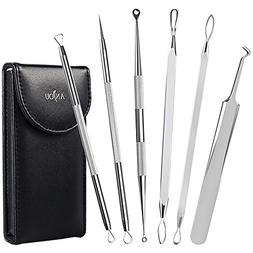 Anjou Blackhead Remover Comedone Extractor, Curved Blackhead