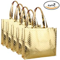 Rumcent Bling Glossy Glitter Durable Reusable Grocery Bag To