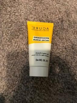 Acure Brightening Facial Scrub 1 OZ / 30 ML Travel Size Free