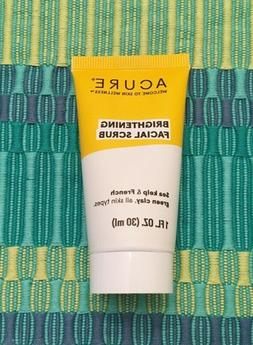 Acure Brightening Facial Scrub 1 oz Travel Size NEW