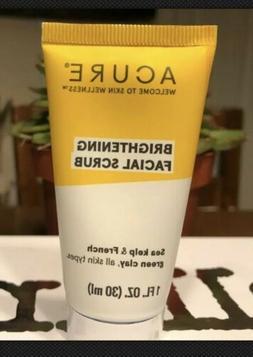 Acure Brilliantly Brightening Facial Scrub Exfoliator 1oz Tr