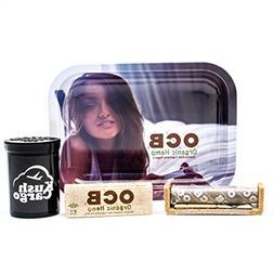 Bundle - 4 Items - OCB Rolling Tray Travel Size with OCB Rol