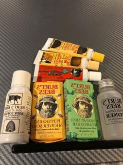 Burt's Bees Set 7 Travel Size Shampoo Bar Soap Lotion Toner