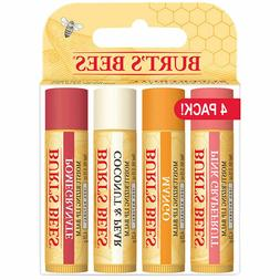 Burt's Bees Superfruit Lip Balm 4 Pack - Tube Purse Wax .15o