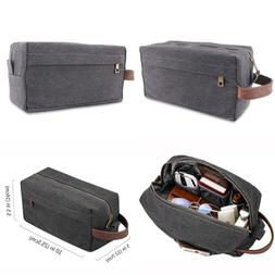 JUANSTAR Canvas Travel Toiletry Bag Shaving Dopp Kits Bags W