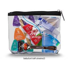 Carry On Clear Bag for Travel Size Liquids, Toiletries Cosme