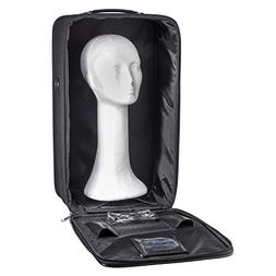 Travel Wig Case Combo Kits - Breathable Canvas Box with Carr