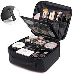 TOPSEFU Travel Makeup Case, Professional Cosmetic Makeup Bag