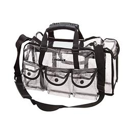 Kemier Clear Travel Makeup Bag with 6 External Pockets,Cosme