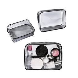 Clear Cosmetic Makeup Bags PVC Toiletry Bags Water-proof for