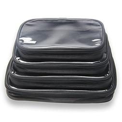 Damero 4pcs Clear Toiletry Bag Packing Cubes, Clear Toiletry