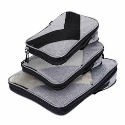 Compression Packing Cubes Travel Luggage Suitcase Organizer