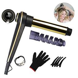 Curling Iron Wand,1.25 Inch Ceramic Tourmaline Smart Memory