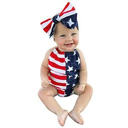 AutumnFall 2Pcs Cute Infant Baby Girls Boys 4th Of July Star