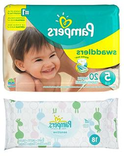 Diaper / Baby Wipe Travel Pack | Includes Pampers Swaddlers