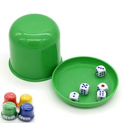 NUOLUX Dice Game Set 1 Random Color Dice Cup and 5 Dice