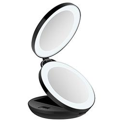 KEDSUM 1X/10X Double Sided LED Lighted Makeup Mirror- Compac