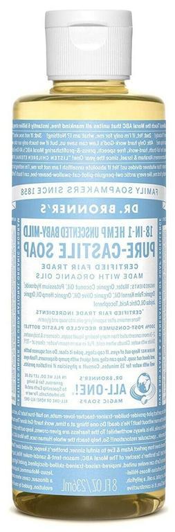 Dr. Bronner's Pure-Castile Liquid Soap 8 oz  Baby Unscente
