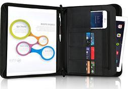 No. 1 Portfolio Folder Padfolio Binder Folio Zipper - Faux L