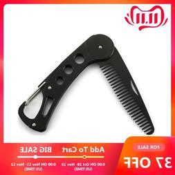 Foldable Steel Hair Comb Folding Detangling Beard Comb Anti-