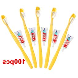 100/50 Sets Portable Disposable Hotel Design Toothbrush with