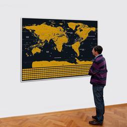 <font><b>Travel</b></font> Scratchable World Map <font><b>Si
