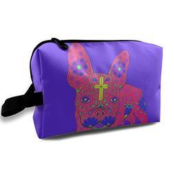 Cindy Girl French Bulldog Multifunction Portable Travel Cosm