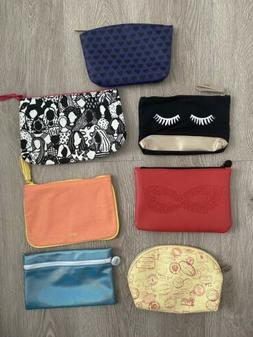 Ipsy Glam Bag Travel Size Makeup Bag ONLY Lot of 7 Stocking