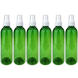 Beauticom 6 Piece 8 Oz Green Transparent Plastic Spray Bottl