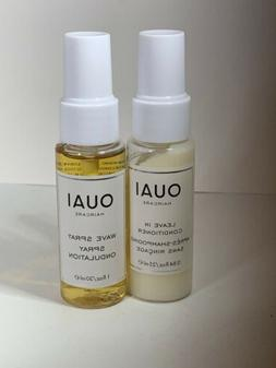 OUAI Haircare Wave Spray, Leave In Conditioner 🌹Set, Trav