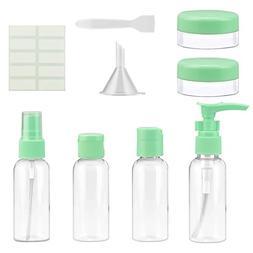 Half Transparent Green Travel Spray Pump 1oz 2 oz 3oz Bottle
