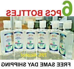Hand Sanitizer With Aloe vera gel ,60ml ,6 Pcs Set, 70% Alco