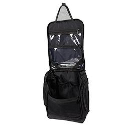 Black Hanging Toiletry Bag - Compact Portable Travel Bag Org