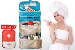 Hanging Travel Toiletry Bag – Waterproof,Compact,Customiza