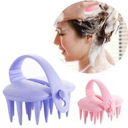 AutumnFall Head Massage Brush,1PC Hair Shampoo Scalp Brush B