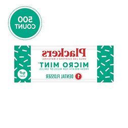 Plackers Individually Wrapped Micro Mint Dental Floss Picks,