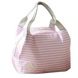AutumnFall Insulated Cold Stripe Thermal Portable Lunch Bag