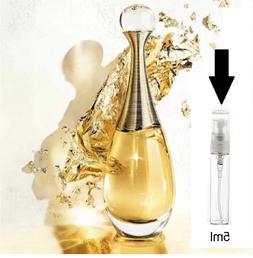 Jadore Perfume SAMPLE by Dior, EDP, 5 ml Purse Travel Size,