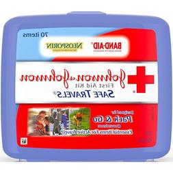 JOHNSON & JOHNSON First Aid Kit Safe Travels 1 Each