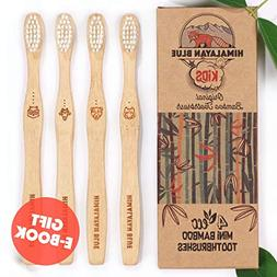 Himalayan Blue Kids Natural Biodegradable Bamboo Toothbrush