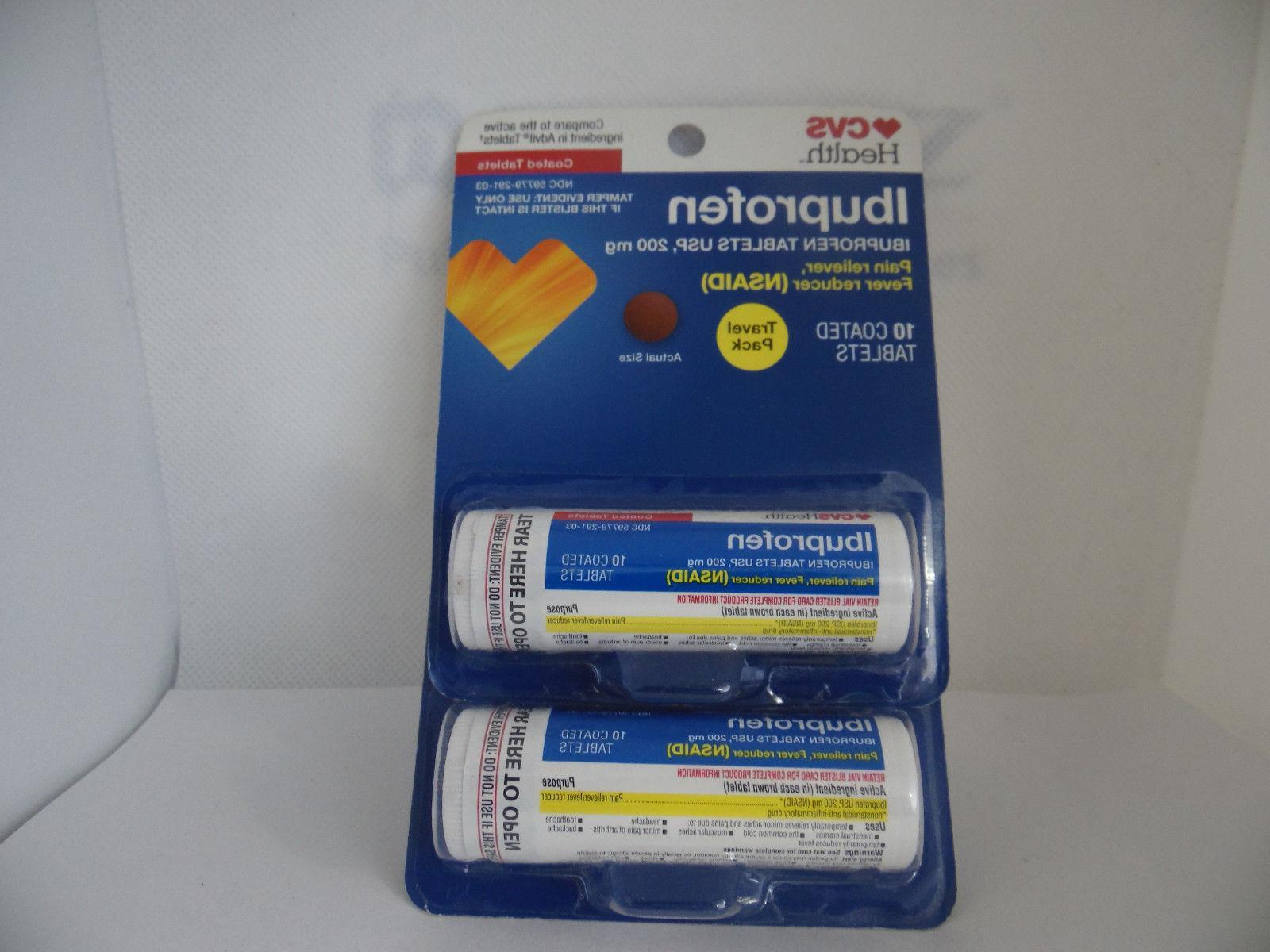 2 health ibuprofen 10 coated tablets travel