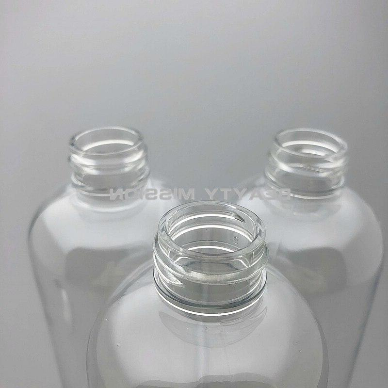 BEAUTY MISSION 20pcs 300ml Disc bottle Plastic PET <font><b>travel</b></font> plastic bottles Shampoo