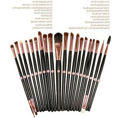 20pcs BRUSHES Kit Set Powder Foundation Eyeliner Lip NEW