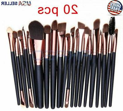 20pcs Makeup BRUSHES Kit Set Powder Foundation Eyeshadow Eye