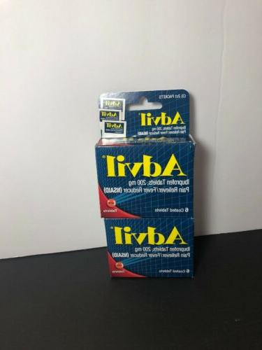 2pack - Tablets Travel Size - 6ct. Each Packs. Pain Reducer
