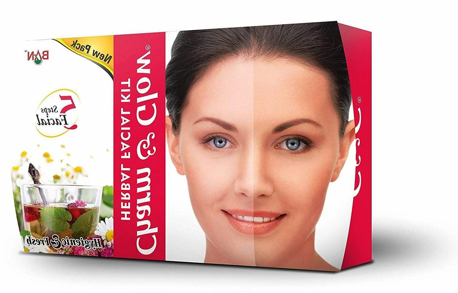 Charm & Glow Herbal Facial 5 Step Facial Kit Travel Size Bes