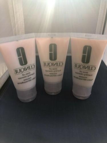 3 x rinse off foaming cleanser 1oz
